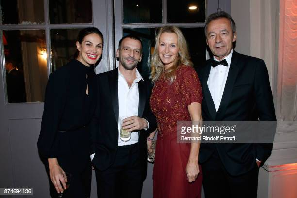 Helena Noguerra Awarded as Actor of the year Mathieu Kassovitz Estelle Lefebure and Chief Editor of Vanity Fair France Michel Denisot attend the GQ...