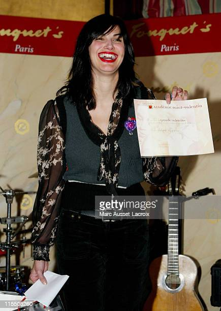 Helena Noguerra during Saint Valentin Awards 2007 at Fouquet's Restaurant in Paris France