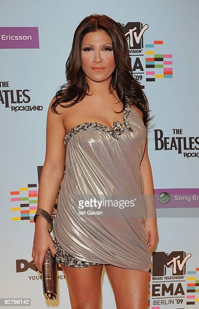 Helena Paparizou arrives for the 2009 MTV Europe Music Awards held at the O2 Arena on November 5 2009 in Berlin Germany