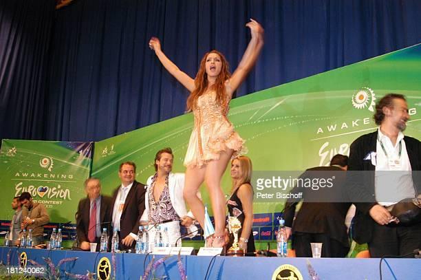Helena Paparizou Pressekonferenz nach Finale vom EurovisionSongContest 2005 Kiew/ Ukraine
