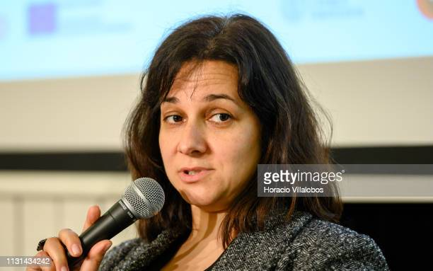 Helena Rodrigues founder and CEO of AllBy participates in a discussion panel at 'Open Days PME Connect' business networking event for small and...