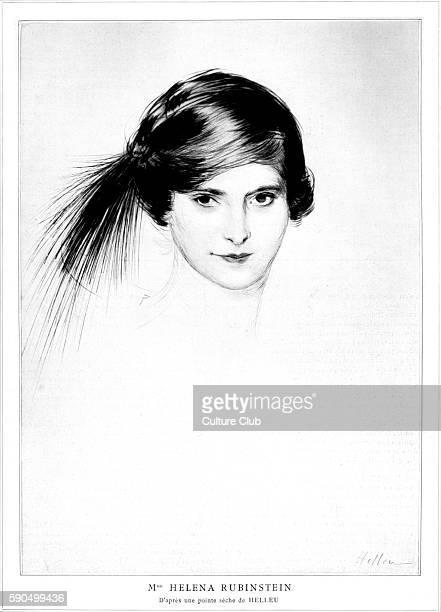 Helena Rubinstein Polishborn American cosmetics entrepreneur Portrait after the etching by Paul CŽsar Helleu 1912 French artist 17 December 1859 Ð 23...