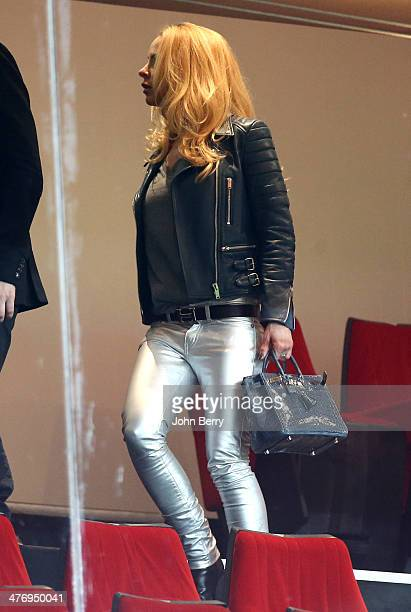 Helena Seger Ibrahimovic wife of Zlatan Ibrahimovic attends the Ligue 1 match between Paris SaintGermain FC and Olympique de Marseille at Parc des...