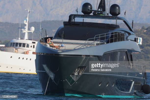 Helena Seger is seen on a yacht on August 14, 2020 in Sassari, Italy.