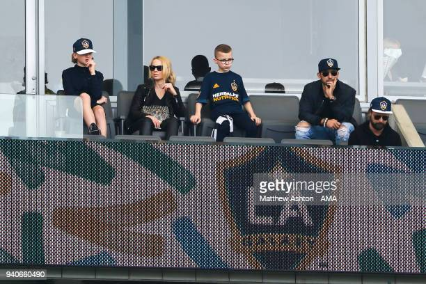 Helena Seger the wife of Zlatan Ibrahimovic of Los Angeles Galaxy during the MLS match between Los Angeles FC and Los Angeles Galaxy at StubHub...