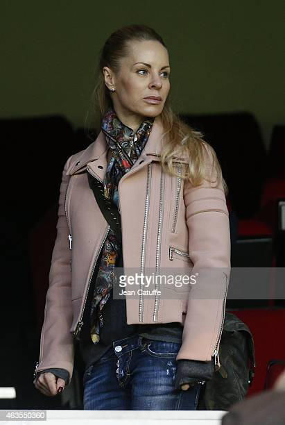 Helena Seger wife of Zlatan Ibrahimovic attends the French Ligue 1 match between Paris SaintGermain FC and Stade Malherbe Caen at Parc des Princes...