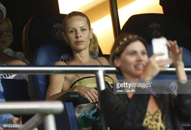 Helena Seger wife of Zlatan Ibrahimovic attends the French Ligue 1 match between Paris SaintGermain FC and GFC Ajaccio at Parc des Princes stadium on...