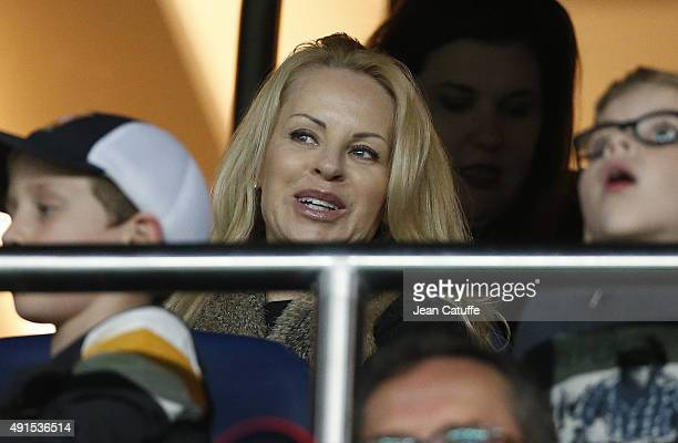 Helena Seger wife of Zlatan Ibrahimovic attends the French Ligue 1 match between Paris SaintGermain FC and Olympique de Marseille at Parc des Princes...