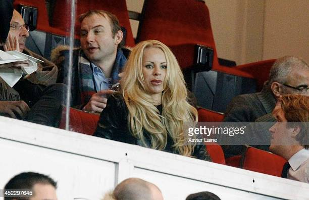 Helena Seger wife of Zlatan ibrahimovic attends the UEFA Champions League between Paris SaintGermain FC and Olympiacos FC at Parc Des Princes on...