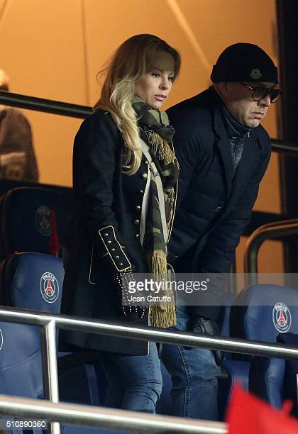 Helena Seger wife of Zlatan Ibrahimovic attends the UEFA Champions League round of 16 first leg match between Paris SaintGermain and Chelsea FC at...