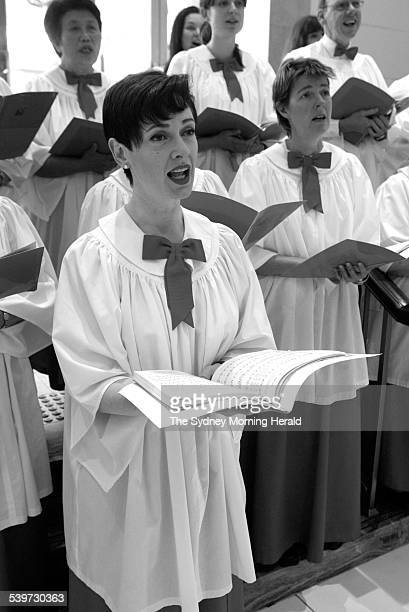 Helena Sindelar, the lead soloist in David Jones Christmas Choir in Sydney, where she has been carolling for the department since 1984, 29 November...