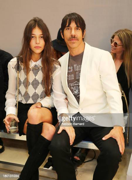Helena Vestergaard and Anthony Kiedis attend the Tommy Hilfiger presents Spring 2014 Women's Collection at Pier 94 on September 9 2013 in New York...