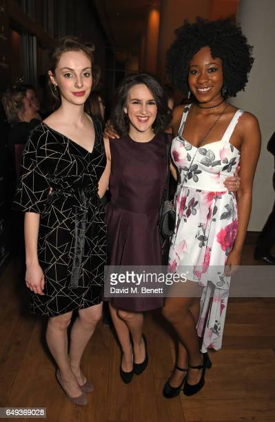 Helena Wilson Louisa Beadel and Evlyne Oyedokun attend the press night after party for The Old Vic's production of 'Rosencrantz Guildenstern Are...