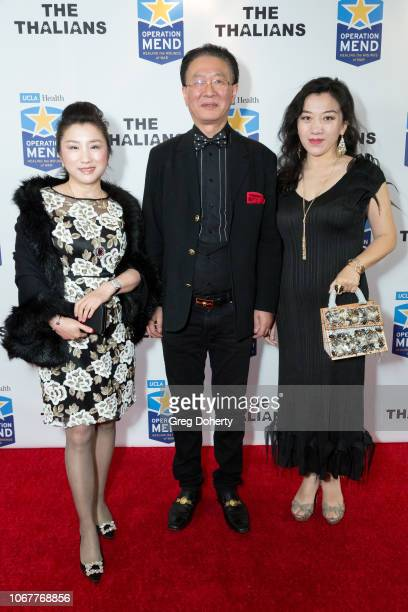Helena Yang George Tao and Vivian Lu attend The Thalians Holiday Party with Kira Reed Lorsch as Chair at Bel Air Country Club on December 1 2018 in...