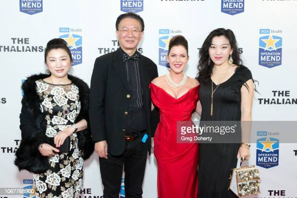 Helena Yang George Tao Kira Reed Lorsch and Vivian Lu attend The Thalians Holiday Party with Kira Reed Lorsch as Chair at Bel Air Country Club on...