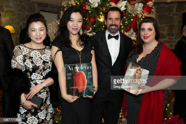 Helena Yang Vivian Lu Christopher Gialanella and Noreen Taylor attend The Thalians Holiday Party with Kira Reed Lorsch as Chair at Bel Air Country...
