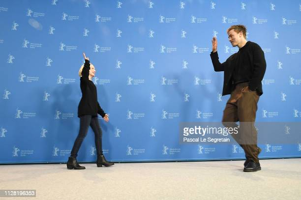 Helena Zengel and Albrecht Schuch pose at the System Crasher photocall during the 69th Berlinale International Film Festival Berlin at Grand Hyatt...