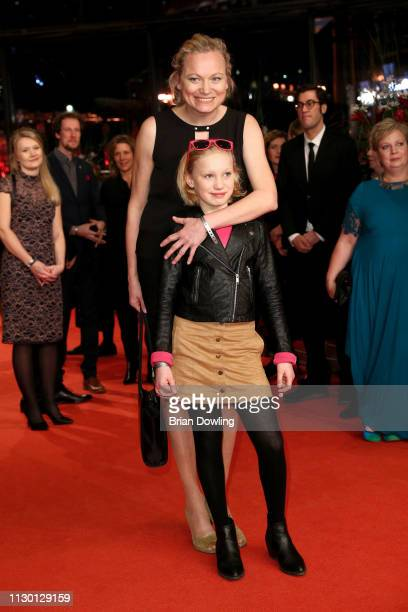 Helena Zengel and her mother arrive for the closing ceremony of the 69th Berlinale International Film Festival Berlin at Berlinale Palace on February...