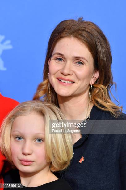 Helena Zengel Lisa Hagmeister pose at the System Crasher photocall during the 69th Berlinale International Film Festival Berlin at Grand Hyatt Hotel...