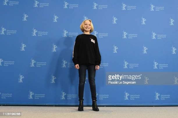 Helena Zengel poses at the System Crasher photocall during the 69th Berlinale International Film Festival Berlin at Grand Hyatt Hotel on February 08...