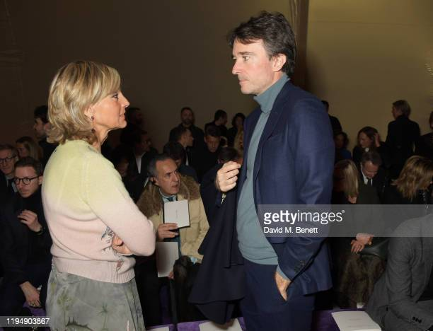 Helene Arnault and Antoine Arnault attend the Dior Haute Couture Spring/Summer 2020 show as part of Paris Fashion Week at Musee Rodin on January 20...
