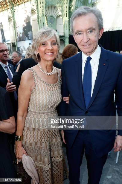 Helene Arnault and Bernard Arnault attend Karl for Ever Tribute to Karl Lagerfeld at Grand Palais on June 20 2019 in Paris France