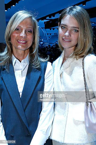 Helene Arnault and Natalia Vodianova attend the Christian Dior Fall/Winter 2013 ReadytoWear show as part of Paris Fashion Week on March 1 2013 in...