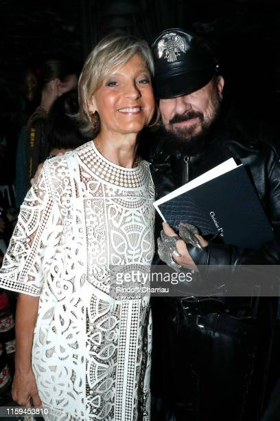Helene Arnault and Peter Marino attend the Christian Dior Haute Couture Fall/Winter 2019 2020 show as part of Paris Fashion Week on July 01 2019 in...