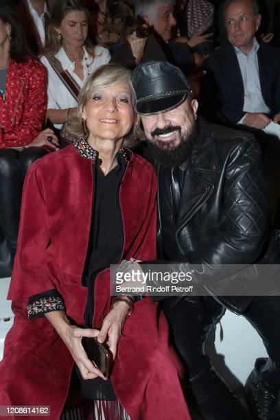 Helene Arnault and Peter Marino attend the Dior show as part of the Paris Fashion Week Womenswear Fall/Winter 2020/2021 on February 25 2020 in Paris...