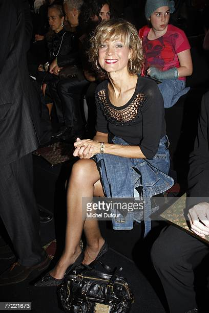 Helene Arnault attends the Louis Vuitton fashion show, during the Spring/Summer 2008 ready-to-wear collection show at Cour carree du Louvre on...