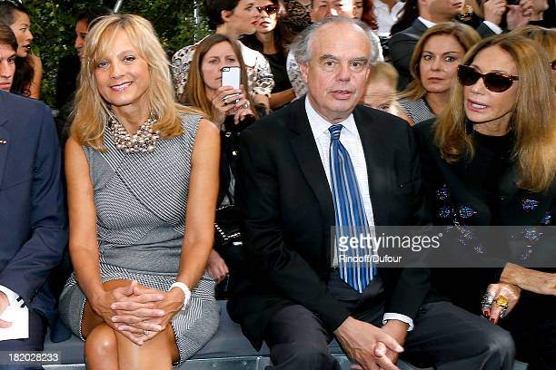 Helene Arnault Frederic Mitterrand and Marisa Berenson attend the Christian Dior show as part of the Paris Fashion Week Womenswear Spring/Summer 2014...