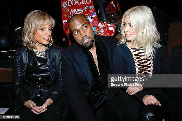 Helene Arnault Kanye West and Kim Kardashian attend the Givenchy show as part of the Paris Fashion Week Womenswear Fall/Winter 2015/2016 on March 8...