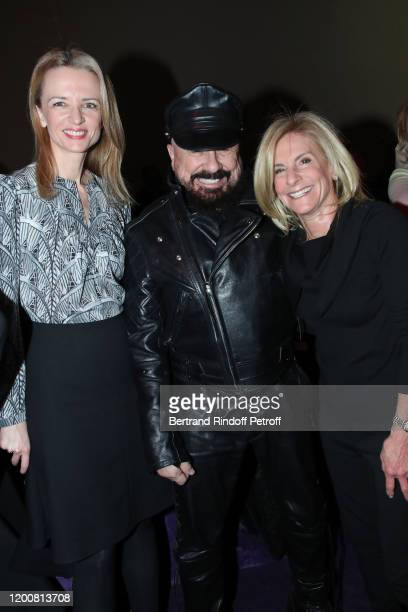Helene Arnault Peter Marino and Ambassador of USA to Paris Jamie McCourt attend the Dior Haute Couture Spring/Summer 2020 show as part of Paris...