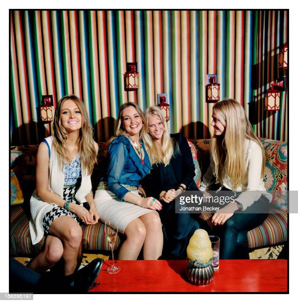 Helene Asquith, Gabriela Asquith and Lady Natasha Howard are photographed at 5 Hertford Street, which is home to the nightclub Loulou's for Vanity...