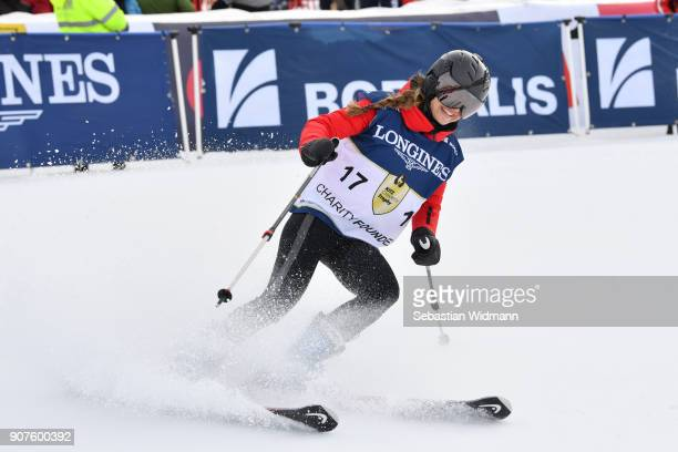 Helene Berger takes part in the KitzCharityTrophy on January 20 2018 in Kitzbuehel Austria