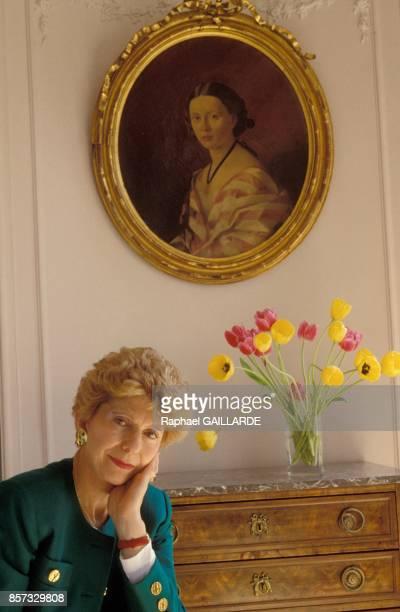 Helene Carrere D'Encausse de l'Academie Francaise specialiste de la Russie en mai 1991 a Paris France