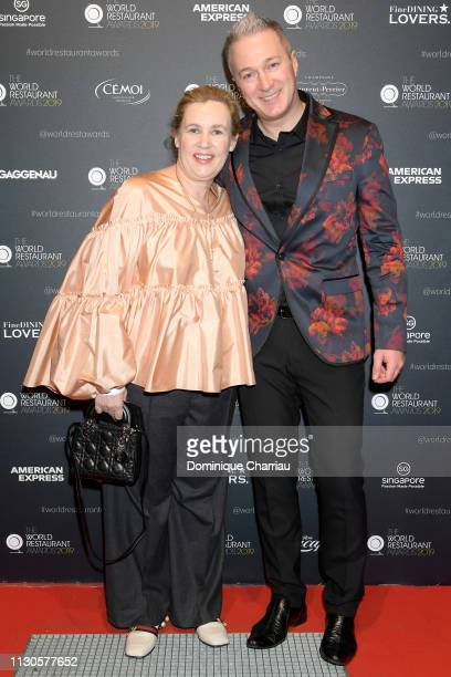 Helene Darroze and Ivan Crip attend The World Restaurant Awards on 18th February 2019 at Palais Brongniart on February 18 2019 in Paris France