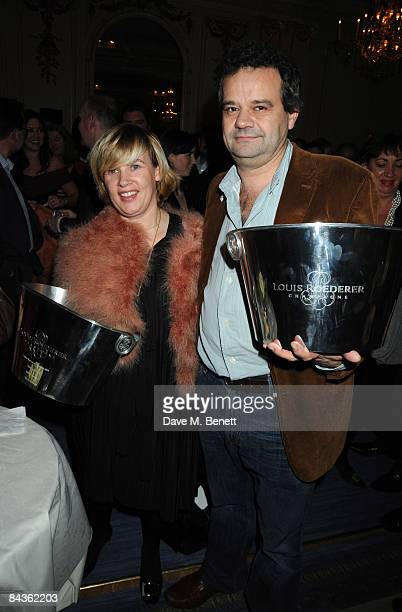 Helene Darroze and Mark Hix attend the Tatler Restaurant Awards at the Mandarin Oriental Hotel on January 19 2009 in London England