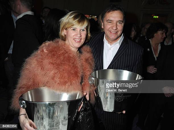 Helene Darroze and Raymond Blanc attend the Tatler Restaurant Awards at the Mandarin Oriental Hotel on January 19 2009 in London England