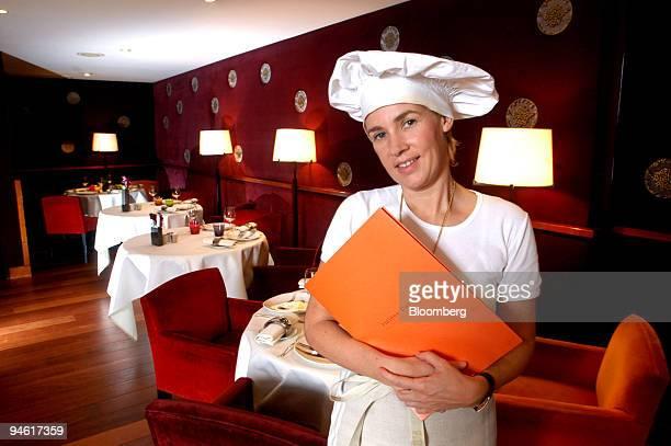 Helene Darroze in her eponymous restaurant in Paris France Thursday October 12 2006 Helene Darroze one of the few women chefs in Paris has a stellar...