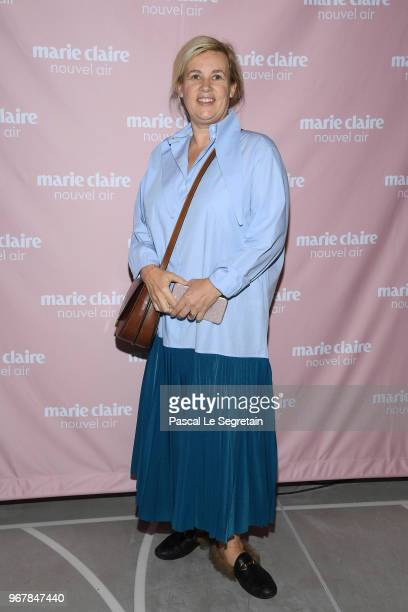 Helene Darroze poses at a photocall during Marie Claire Nouvel Air at Hotel Lutetia on June 5 2018 in Paris France