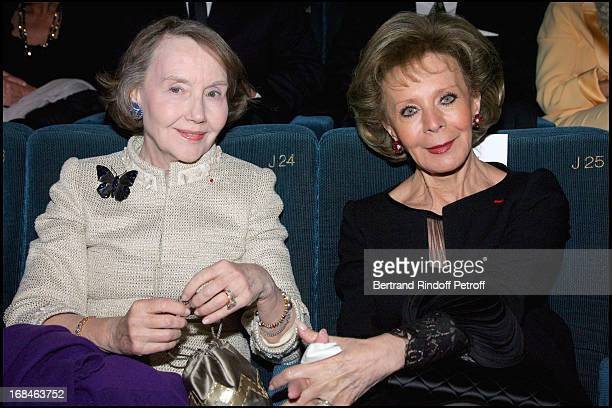 Helene David Weill and Lily Safra at Premiere Of Film 'Faubourg 36' At Ugc Normandie In Benefit Of Claude Pompidou Foundation