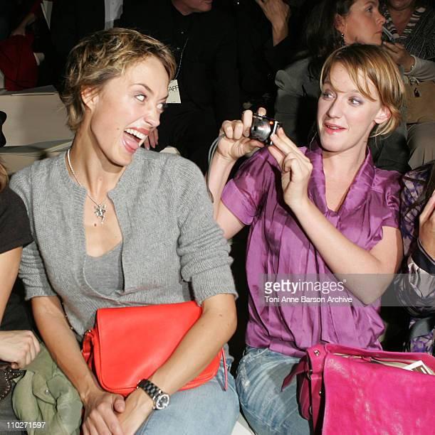 Helene De Fougerolles and Ludivine Sagnier during Paris Fashion Week - Pret a Porter Spring/Summer 2006 - Celine - Front Row at Tuileries in Paris,...