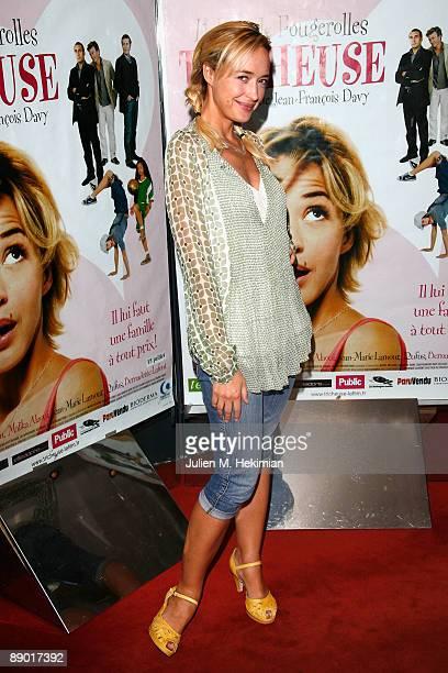 Helene de Fougerolles attends the 'Tricheuse' Paris premiere at UGC Cine Cite des Halles on July 13 2009 in Paris France