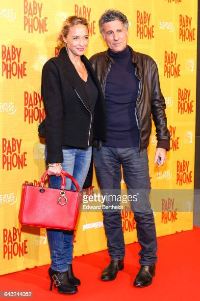 Helene de Fougerolles during Baby Phone Paris Premiere at Cinema UGC Normandie on February 20 2017 in Paris France