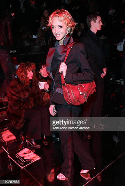 Helene de Fougerolles during Paris Fashion Week Autumn/Winter 2006 Ready to Wear Christian Dior Front Row at Grand Palais in Paris France