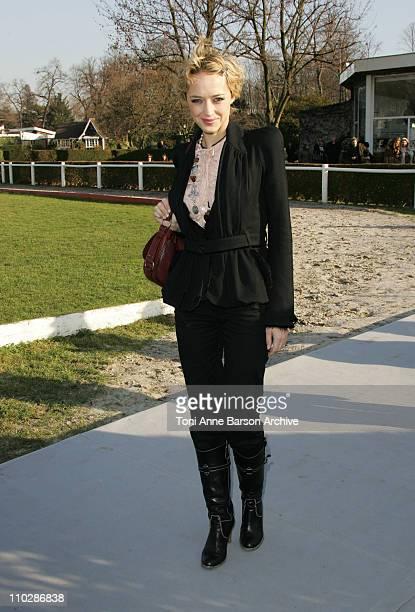 Helene de Fougerolles during Paris Fashion Week - Haute Couture Spring/Summer 2006 - Christian Dior - Arrivals & Front Row at Polo de Paris in Paris,...