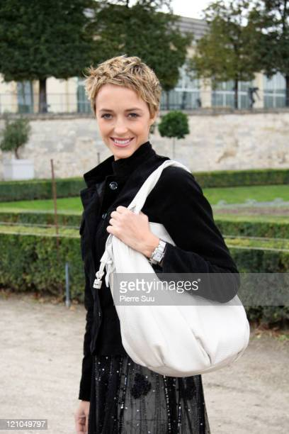 Helene de Fougerolles during Paris Fashion Week - Spring / Summer 2007 - Celine in Paris, France.