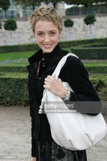 Helene de Fougerolles during Paris Fashion Week Spring/Summer 2007 - Celine - Arrivals at Les Tuileries in Paris, France.