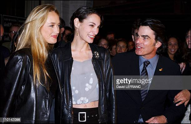 Helene de Fougerolles Jeanne Balibar and Peter Gallagher in The Opening night of the New York Film Festival with Va Savoir from the French director...